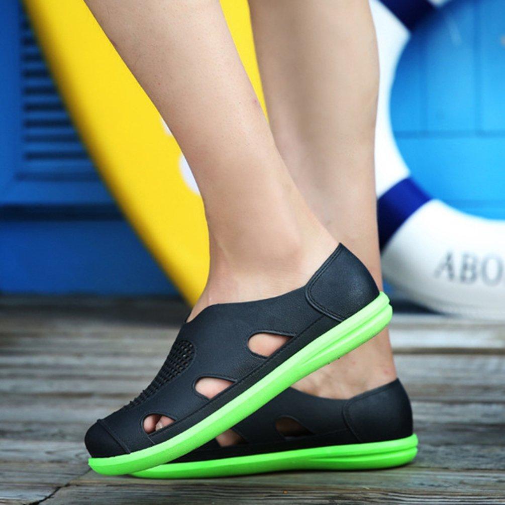 Lvguang Unisex Uomo Donna Traspirante Pantofole da Spiaggia Scava Fuori i Sandali Antiscivolo Zoccoli Clogs Sport all'Aria Aperta Casual Scarpe Blu Arancia,Asia 41��25.5cm��