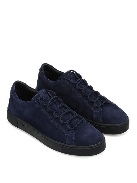 Tod s Sneaker in Morbido Nabuk XXM56A0V430RE0U820 Blu Uomo  Amazon ... 59b55bde486
