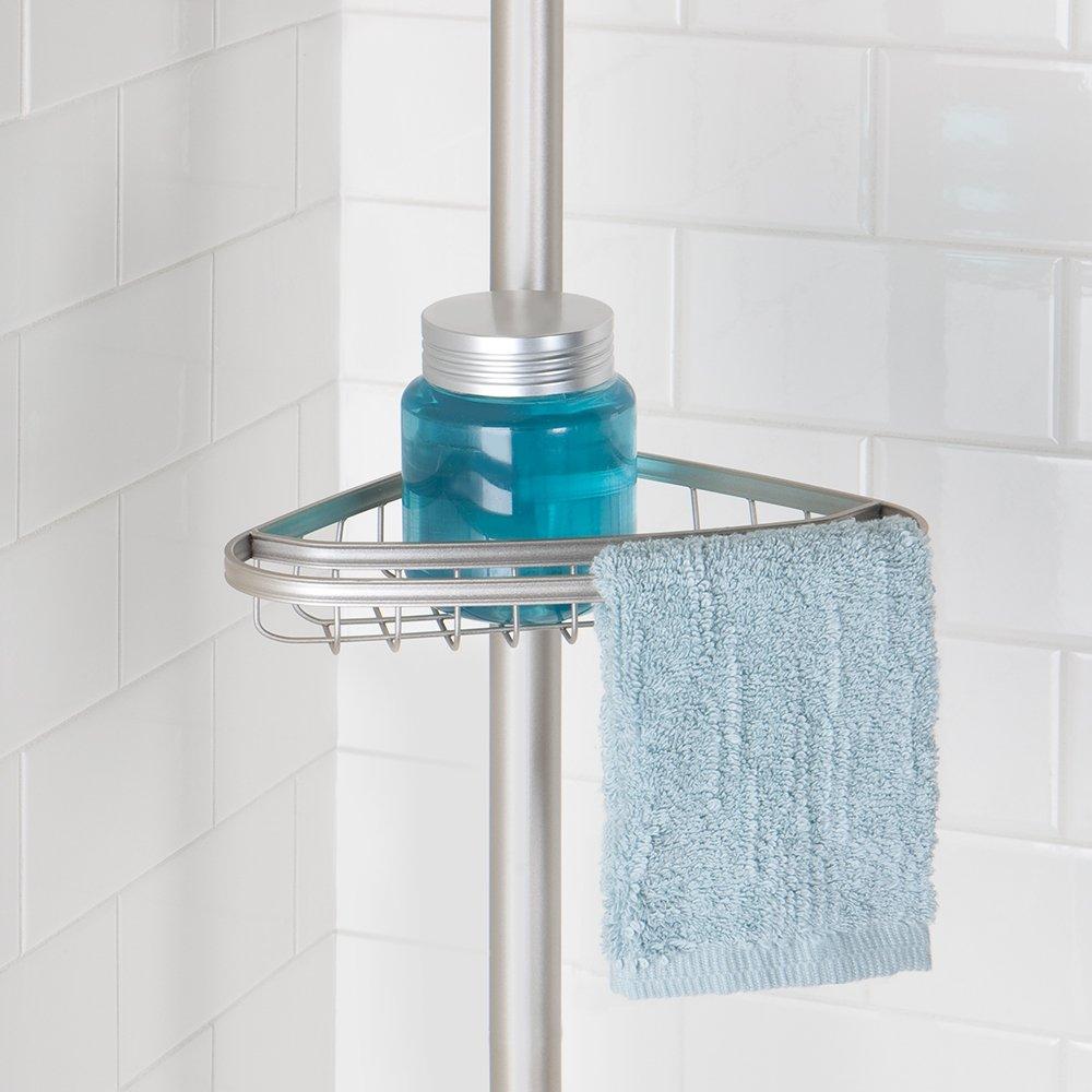 Amazon.com: InterDesign York Constant Tension Corner Shower Caddy ...