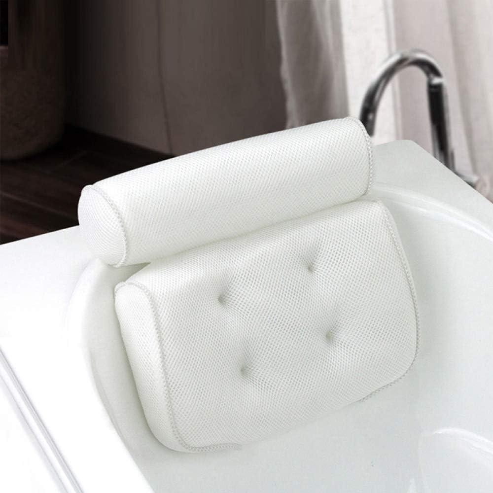 FENGZ 3D Mesh SPA Home Baño Almohada Reposacabezas Ventosa Bañera Antideslizante Cómoda Almohada Bañera Bañera Accesorios De Baño Decoración De SPA