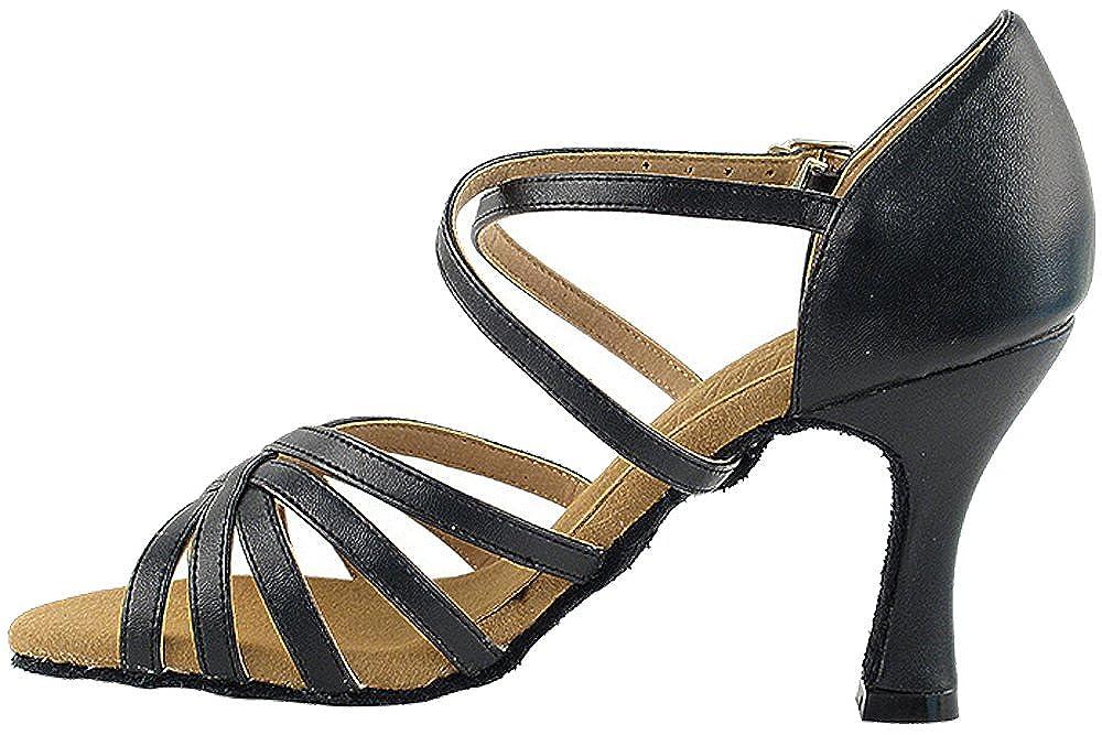 Bundle of 5 Womens Ballroom Dance Shoes Tango Wedding Salsa Shoes S9216EB Comfortable-Very Fine 2.5