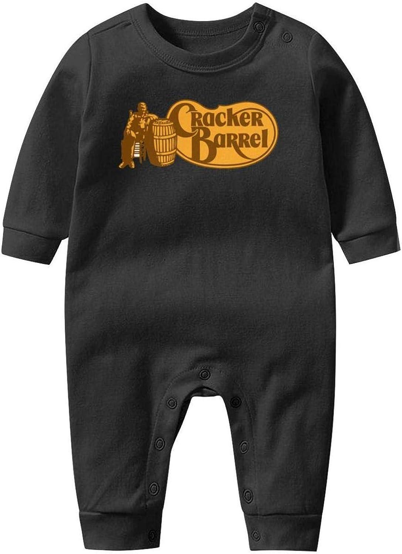 NAKHFBVi Cracker-Barrel-Logo-Old-Country-Store-Sign Baby Boys Girls Long Sleeve Baby Onesie Jumpsuits