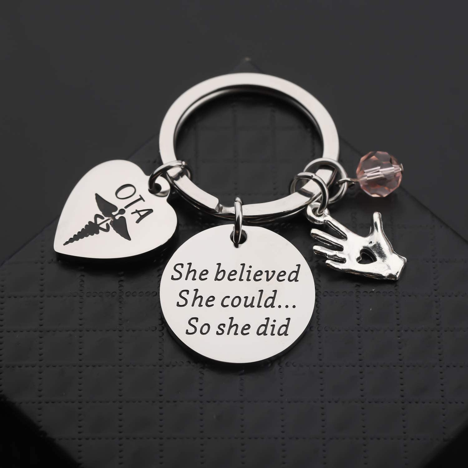 TIIMG OTA Gift Occupational Therapist Assistant Graduation Gift OTA Graduate She Believed She Could So She Did Medical School Gift