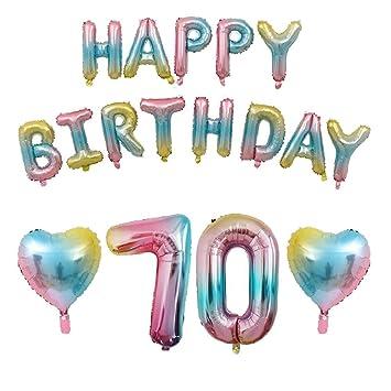 Kit de decoración de cumpleaños con globos degradados ...