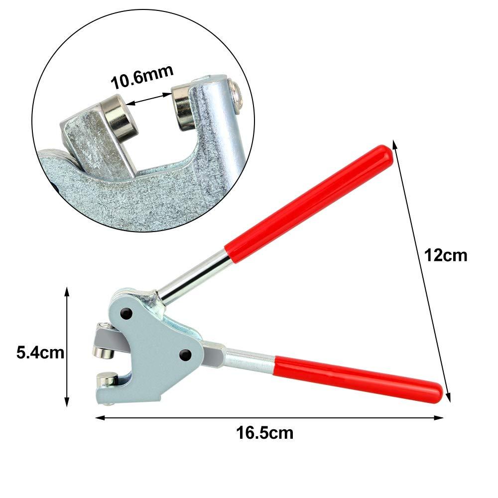 rouge Tancuder Lot de 20 pinces /à plomb avec 20 grains et ligne de scellage pour plomb /Ø jusqu/à 10 mm