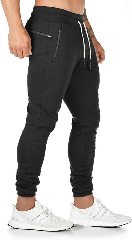 Pantalones de ch/ándal de algod/ón para Hombre Yidarton con Bolsillo con Cremallera