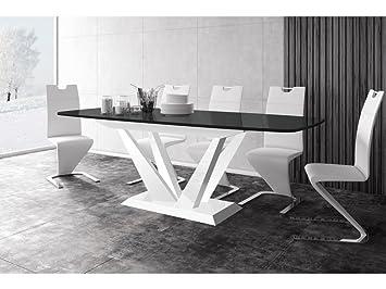 H MEUBLE Mesa a Comedor diseño Extensible 160 ÷ 260 cm x P: 89 cm x ...