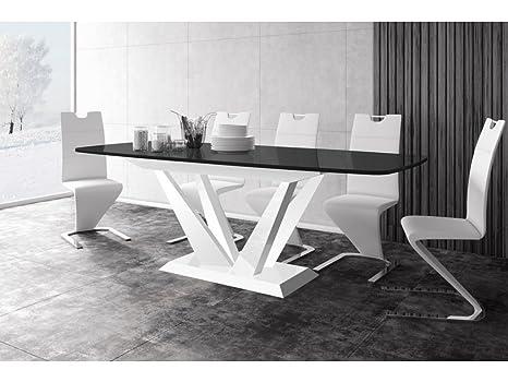 H MEUBLE Mesa a Comedor diseño Extensible 160 ÷ 260 cm x P ...