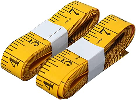 Depory Soft Tape Measure 120-Inch 300cm for Sewing Tailor Cloth Ruler Yellow