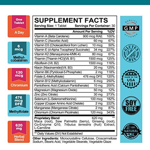 Go, Dog. Go! Best Nest Fertility Formula for Men, Doctor Recommended, Methylfolate, Whole Food, Antioxidants, Men's Multivitamin and Herbal Fertility Blend, 30 Ct