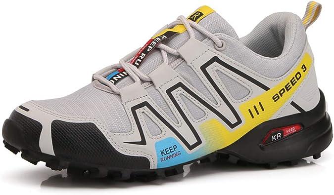 Zapatillas Trekking Hombre Zapatillas Senderismo Transpirable Antideslizante Al Aire Libre Zapatillas de Deporte Gris 40: Amazon.es: Zapatos y complementos