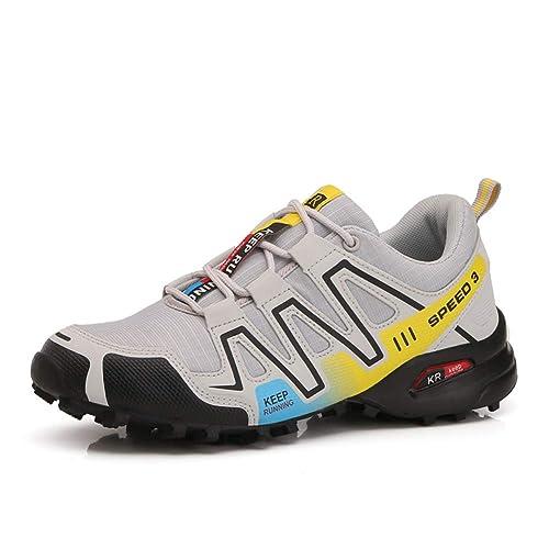 premium selection 345e3 b70c6 Scarpe da Montagna Uomo Scarpe da Trekking Traspirante Scarpe da  Escursionismo Antiscivolo Scarpe da Arrampicata
