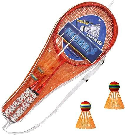 New Badminton Rackets Fun Badminton Set Fluorescent H6508 Badminton Racket  Two Shots to Send 2 balls YMQ Racket set Colored Outdoor Sports Leisure  Toys Kids Play Game Toy Badminton Sports & Outdoors