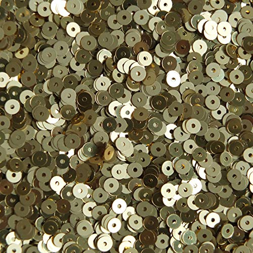 Craft and Embroidery Project - 4mm Round Flat Sequins Gold Duo Reversible Matte and Shiny Metallic Reversiblefor Sewing, Sequin Slime, Wedding Decoration
