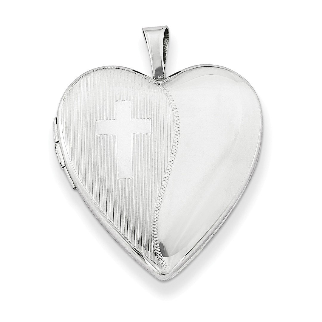 ICE CARATS 925 Sterling Silver 20mm Cross Religious Design Heart Photo Pendant Charm Locket Chain Necklace That Holds Pictures W/chain Fine Jewelry Ideal Gifts For Women Gift Set From Heart