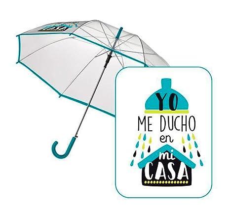 "Paraguas automatico transparente ""Ducha"" ..."