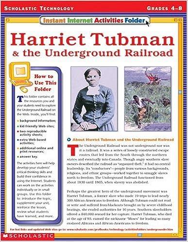 Harriet Tubman and the Underground Railroad (Instant Internet Activities Folder)