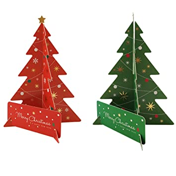 Christmas Tree Cards Designs.Merry Christmas Greeting Cards Creative 3d Christmas Trees Design Best Gift Greeting Cards Cards Envelopes Best Gift Cards For Kids Families