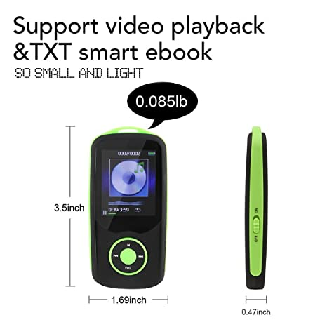Amazon mp3 player with bluetooth 16gb support up to 64gb green amazon mp3 player with bluetooth 16gb support up to 64gb green by timmy home audio theater fandeluxe Gallery