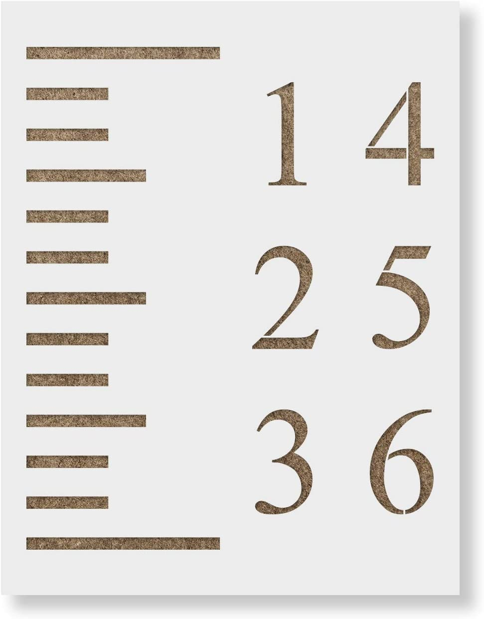 Growth Chart Stencil Template   Reusable Stencil for Growth Chart Rulers    Better Than Decals