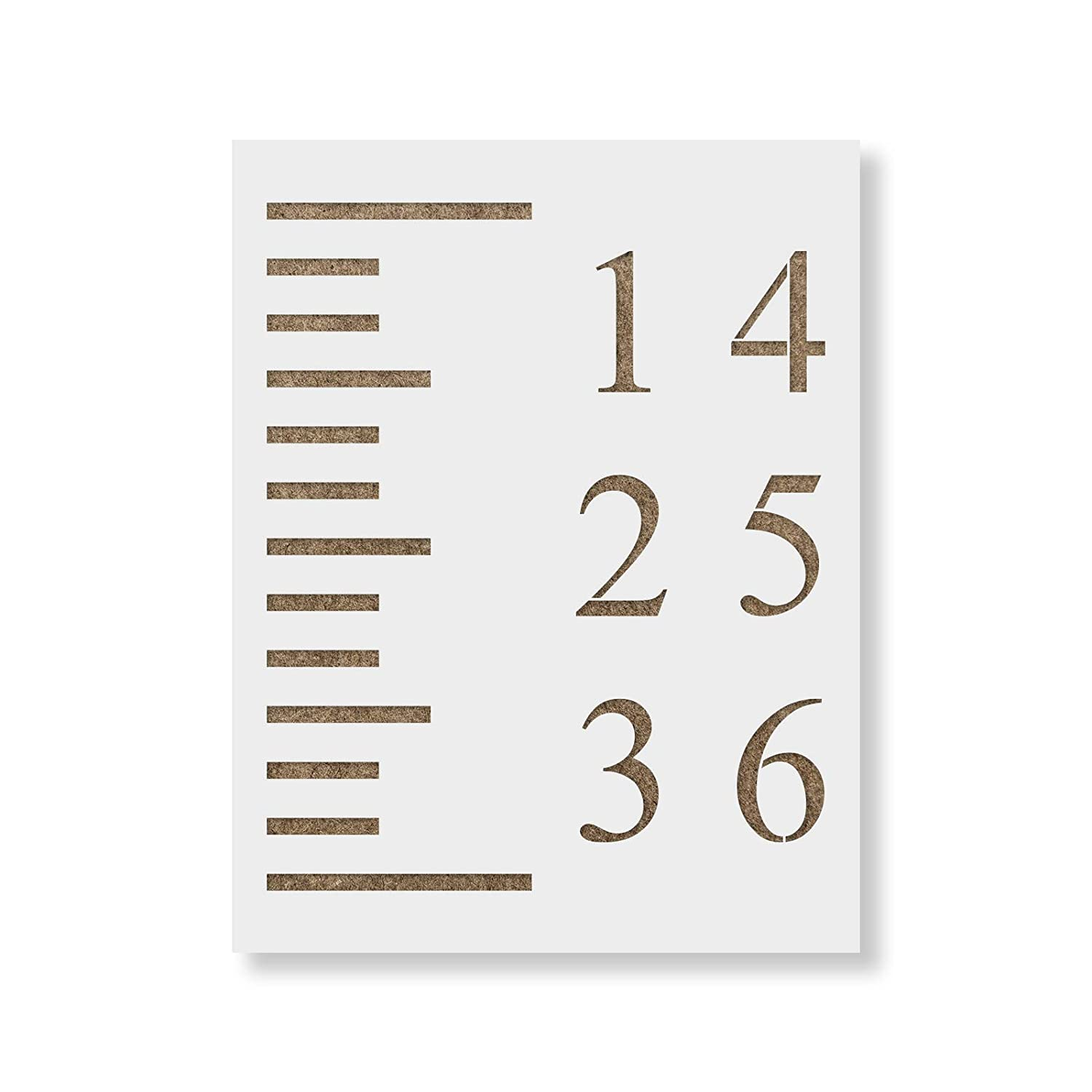 Amazon Com Growth Chart Stencil Template Reusable Stencil For