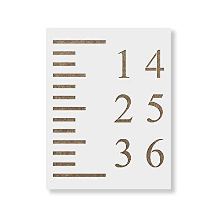 Amazon Growth Chart Stencil Template Reusable Stencil For