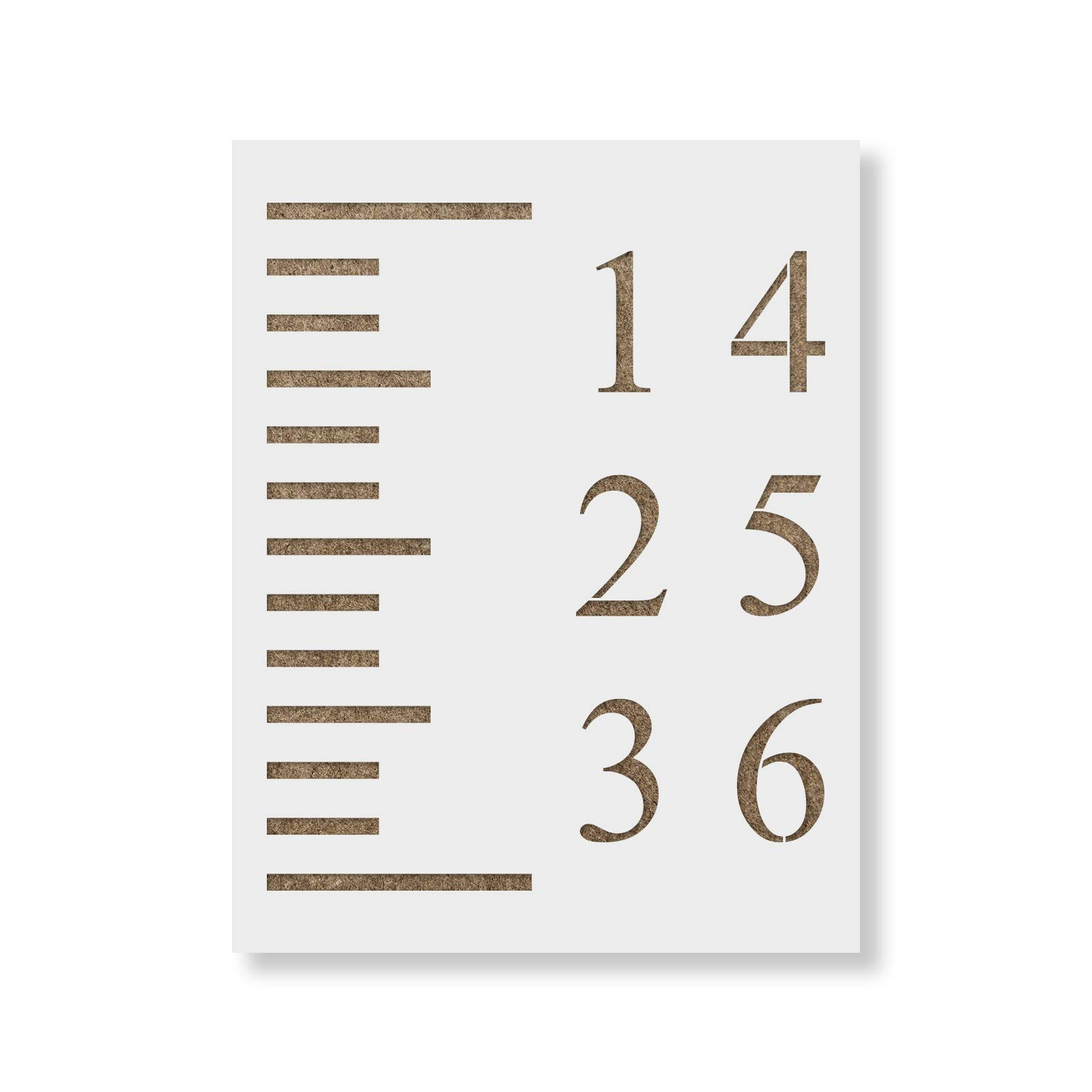 Growth Chart Stencil Template - Reusable Stencil Growth Chart Rulers - Better Than Decals!