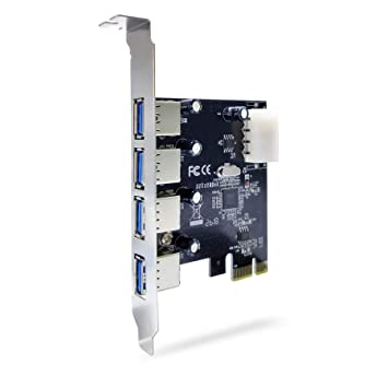 ADWITS PCIe 1x a USB 3.1 Gen 15 Gbps 4 Puertos Tipo A Tarjeta de expansión Hembra con VIALab VL805 SuperSpeed Controlador Host USB 3.0, Negro