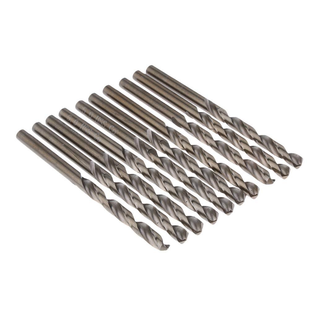 Homyl 10pcs Broca Recta de Acero Brocas de Perforació n Suministros de Limpieza Negocio Cientí fico - 4 mm