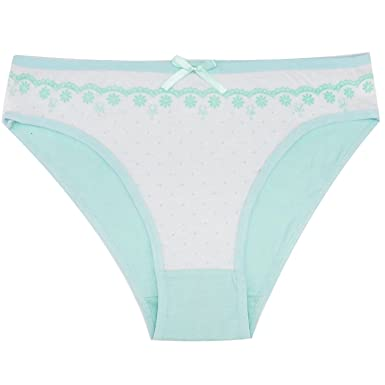 99e317f6189 Women s Cotton Panties Dot Print Girl Briefs Ms. Cotton Flower Underwear  Bikini Underwear Sexy Ladies