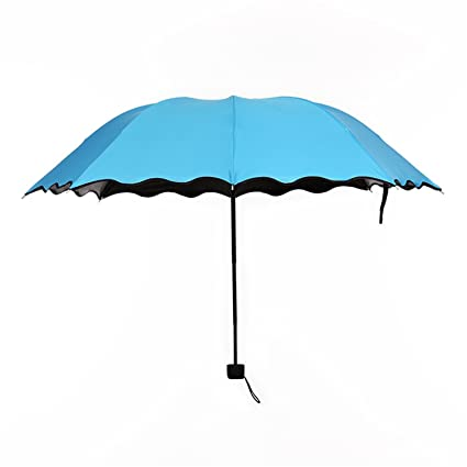 Madehappy Fashion Cheap Lady Sun Umbrella Three Folding Umbrella 8 Rib Wind Resistant Frame Manual Anti