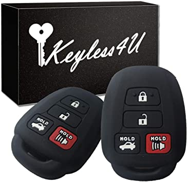 Keyless Entry Remote Car Key Fob Shell Cover Rubber Protective Case for Toyota Camry Venza