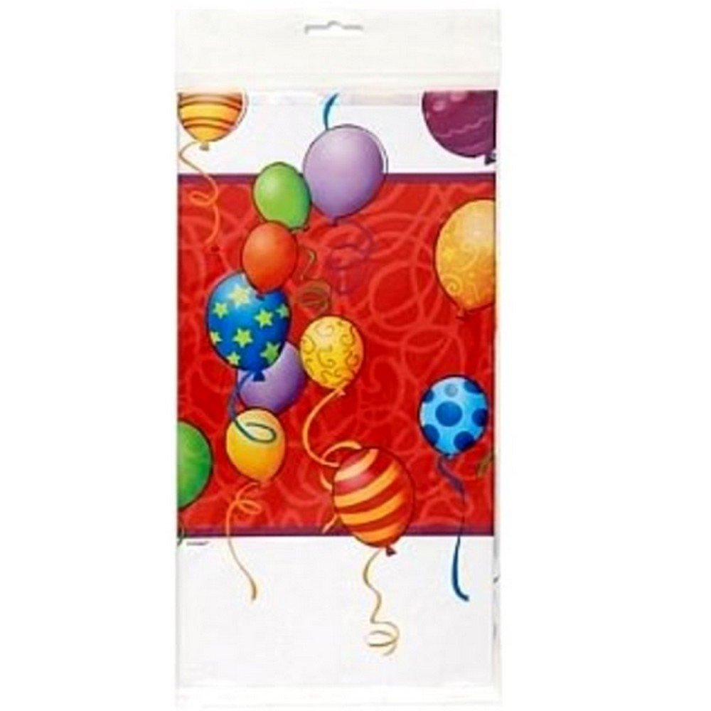 Unique Party Plastic Tablecover - Birthday Balloons (One Size) (Multicoloured)