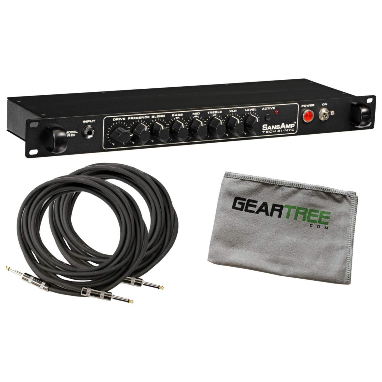 Tech 21 SansAmp RBI Rackmountable Bass Preamp Bundle w/Cables