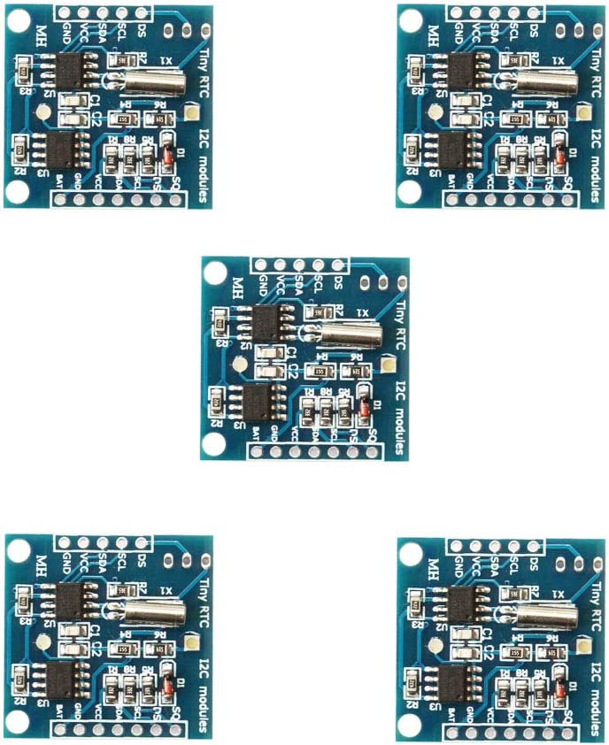 Ximimark 5Pcs I2C RTC DS1307 AT24C32 Real Time Clock Module for AVR ARM PIC SMD for Arduino
