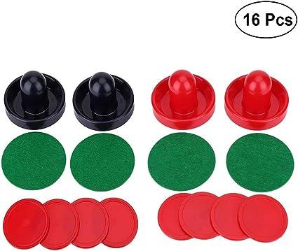 Yeelan Air Hockey Pushers /& Pucks Set,Large Size Large Size 2 Navy Pushers + 2 Red Pushers+ 4 Red Pushers+ 4 lints + 8 Red Pucks