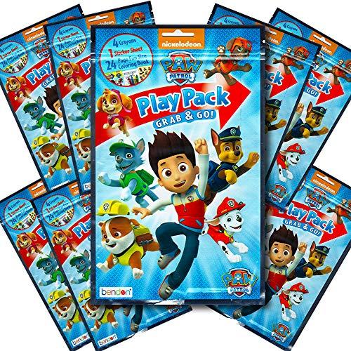 Paw Patrol BashBox Play Pack Grab & Go Children's Coloring & Activity Party Favor Bundle (8 Packs) ()