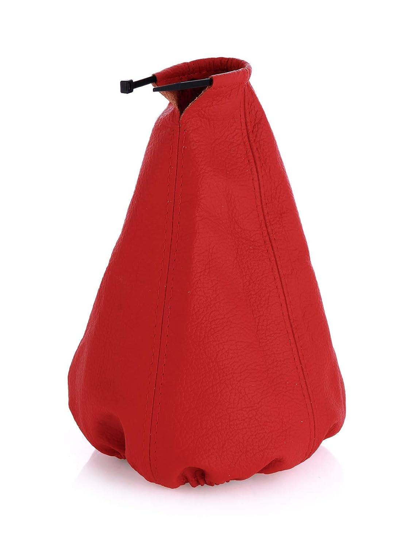 Schaltmanschette Schaltsack Sack Rot Faden Rot Echt Leder myshopx SA80
