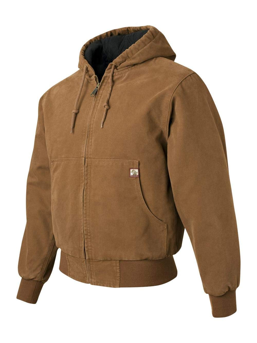 DRI Duck - Cheyenne Hooded Boulder Cloth Jacket with Tricot Quilt Lining - 5020 - XS - Saddle by DRI Duck