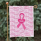 "GiftsForYouNow Personalized Breast Cancer Awareness Double Sided Garden Flag, 12 1/2"" w x 18"" h, Polyester"