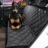 "Dog Seat Cover,EVELTEK Luxury X-Large 152x147cm /60""x58"" Backseat Nonslip Scratch-proof Waterproof& Abrasion Resistance Pet Dog Car Seat Cover & Hammock 