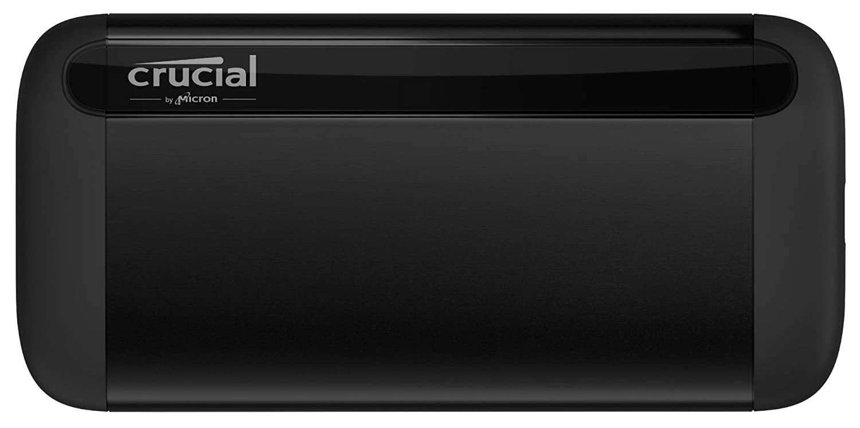 USB-A USB 3.2 Up to 1050MB//s Crucial 1TB X8 Portable SSD CT1000X8SSD9 USB-C
