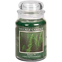 Village Candle Balsam Fir Large Apothecary Jar, Scented Candle, 21.25 oz.
