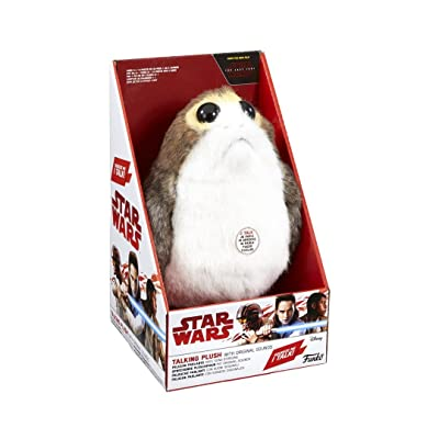 "Star Wars Funko PORG Talking Plush with Original Movie Sounds Episode VIII 8.5"" Soft Toy: Toys & Games"