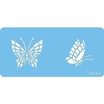 PME SBB1 Jem Schmetterlings-Schablone Zwei, Kunststoff, Blue, cm, 15 ...