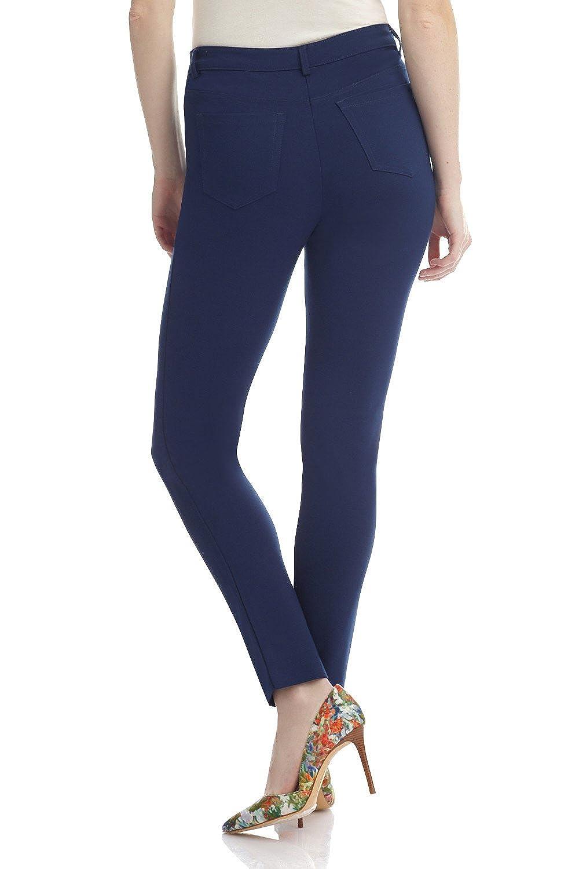 Rekucci Womens Hi-Density Knit 5 Pocket Modern Skinny Pants w//Zippers