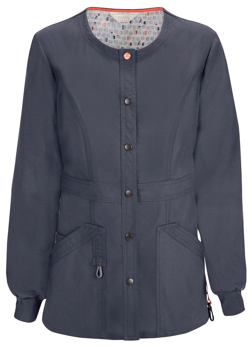 Code Happy Women's Snap Front Warm-up Jacket_Pewter_Large,46300A