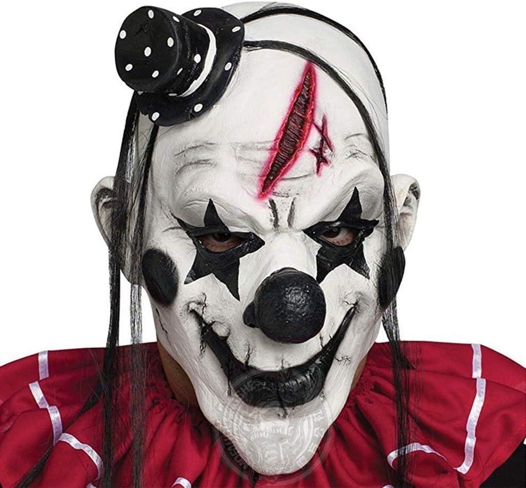 Divertido Malvado Adulto látex Pelo Asesino Joker Payaso Disfraz ...