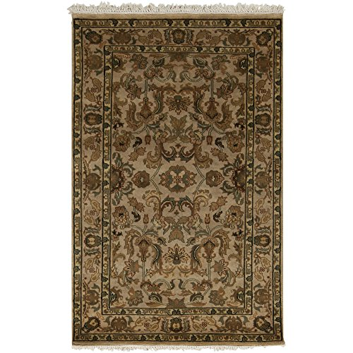 (Surya Adana IT-KASHAN Traditional Hand Knotted 100% Semi-Worsted New Zealand Wool Gold 2'6