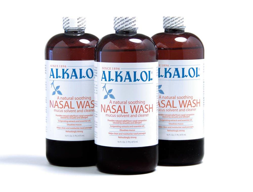 Alkalol Solution Original Nasal Wash, 3 Count -16 fl oz by Alkalol Solution